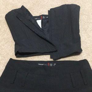 Renuar Chic dark grey set: top and pants